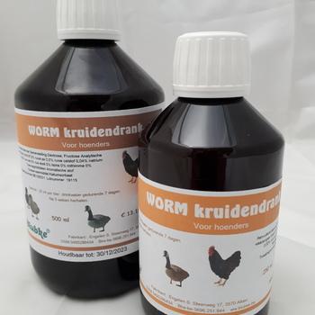 Worm Drink hoenders - 500 ml