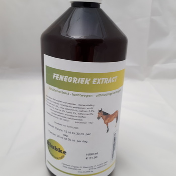 Fenegriek extract paarden - 500 ml