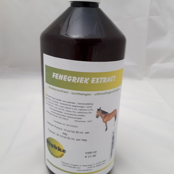 Fenegriek extract paarden - 1000 ml