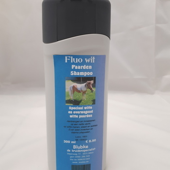 Shampoo fluo wit paarden - 300 ml